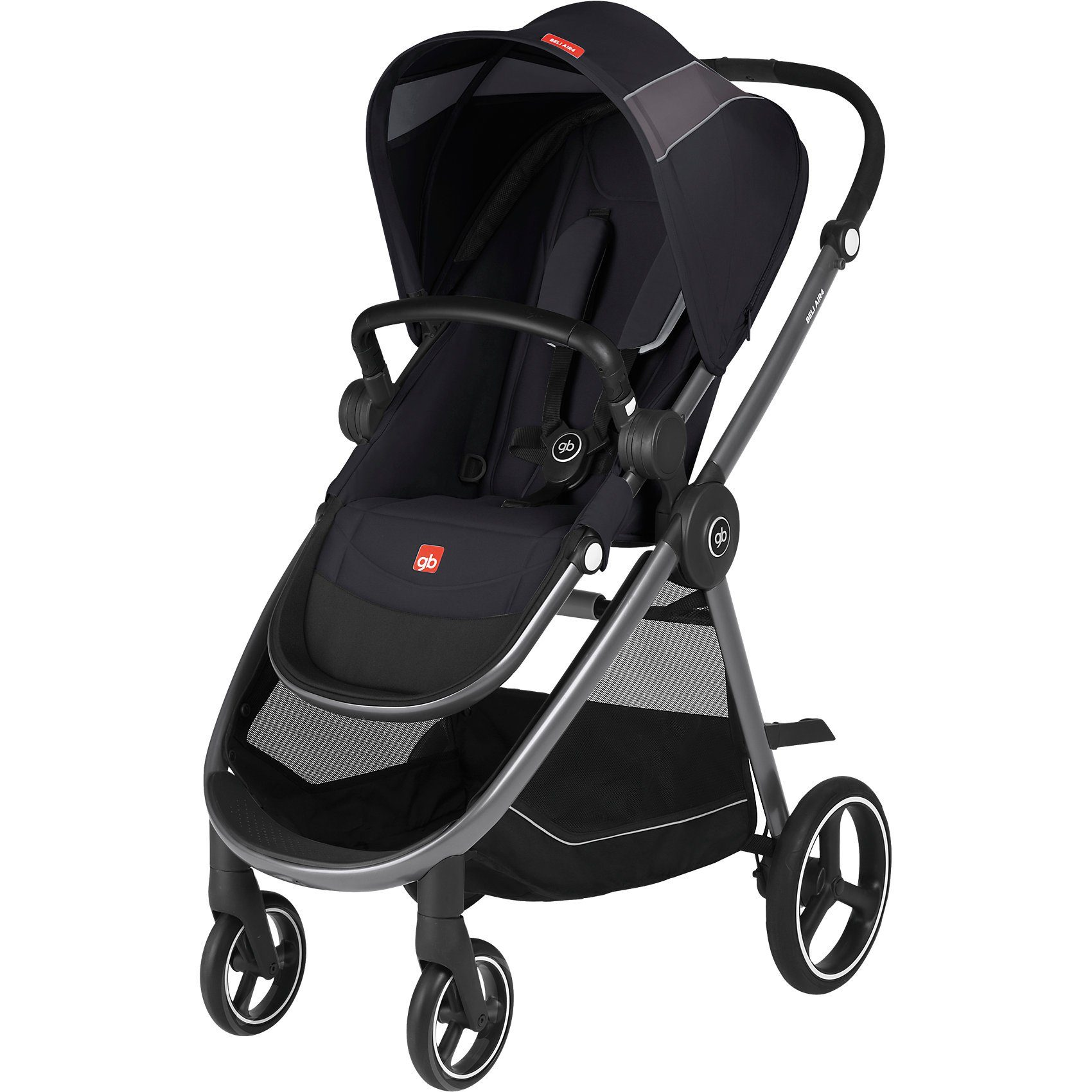 Goodbaby Sportwagen BELI AIR4, Satin Black-Black, 2018